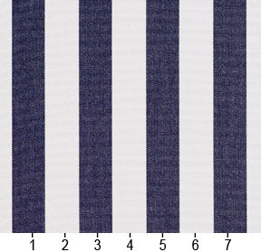 Essentials Outdoor Navy Blue White Canopy Stripe Upholstery Fabric