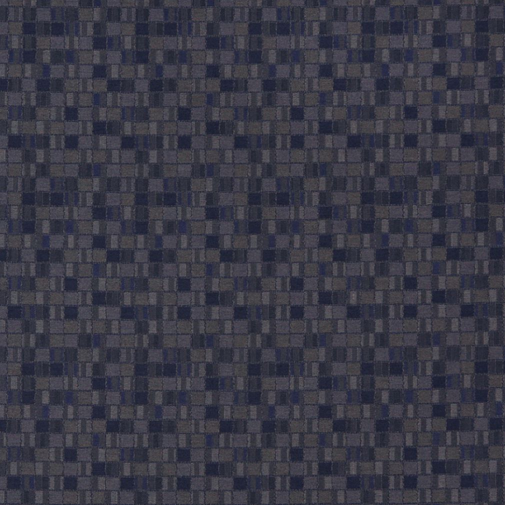 Essentials Navy Blue Gray Mosaic Upholstery Fabric / Atlantic