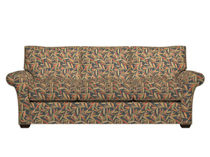 Essentials Cityscapes Navy Blue Green Lime Red Coral Mustard Leaves Upholstery Drapery Fabric