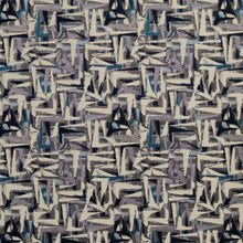 Load image into Gallery viewer, Essentials Navy Blue Mauve Aqua Gray Beige Upholstery Fabric / Sapphire Abstract