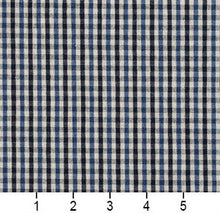 Load image into Gallery viewer, Essentials Navy Blue White Plaid Upholstery Fabric / Cobalt Check