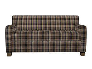 Essentials Black Brown Beige Checkered Upholstery Fabric / Espresso Plaid