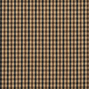 Essentials Black Brown Beige Plaid Upholstery Fabric / Espresso Check