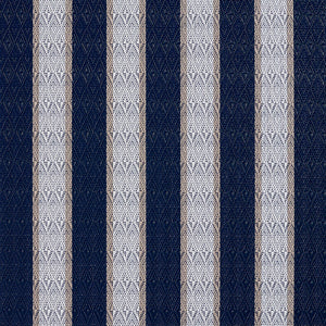 Essentials Outdoor Marine Upholstery Fabric Navy Ivory / Cobalt Stripe