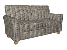 Load image into Gallery viewer, Essentials Navy Tan Gray Beige Geometric Upholstery Fabric / Royal Interlock