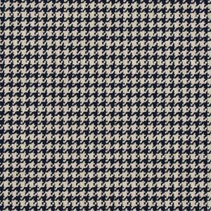 Essentials Navy White Upholstery Fabric / Cobalt Houndstooth