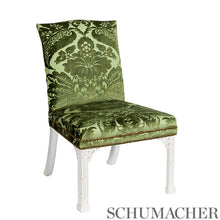 Load image into Gallery viewer, SCHUMACHER PAVIA SILK VELVET FABRIC / OLIVINE