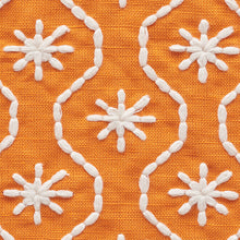 Load image into Gallery viewer, SCHUMACHER GIGI EMBROIDERY FABRIC / ORANGE