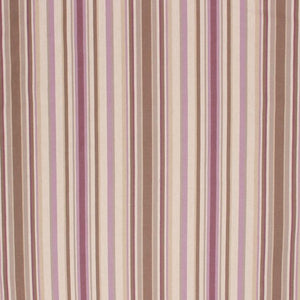 Cotton Stripe Upholstery Drapery Fabric Mauve Brown Purple / Orchid RMIL1
