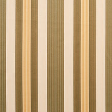 Load image into Gallery viewer, Essentials Upholstery Drapery Fabric Olive Cream Gold / Juniper Noble Stripe