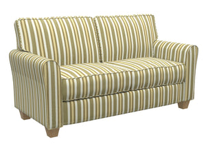 Essentials Upholstery Drapery Fabric Olive Cream Gold / Juniper Noble Stripe