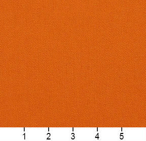 Essentials Cotton Twill Orange Upholstery Fabric / Mandarin