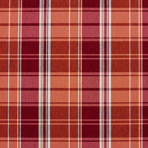 Essentials Orange Maroon White Checkered Upholstery Fabric / Spice Plaid
