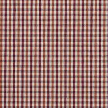 Load image into Gallery viewer, Essentials Orange Maroon White Plaid Upholstery Fabric / Spice Check