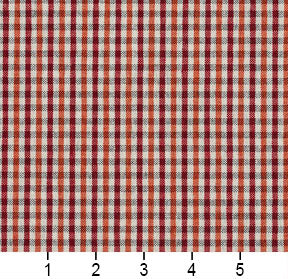 Essentials Orange Maroon White Plaid Upholstery Fabric / Spice Check