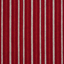 Load image into Gallery viewer, Essentials Orange Maroon White Upholstery Fabric / Spice Stripe