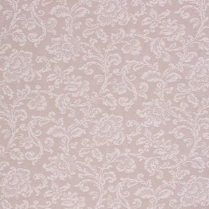 Neutral Botanical Chenille Damask Upholstery Drapery Fabric Cream / Parchment RMIL1
