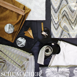 SCHUMACHER LUCA SATIN FABRIC / PEARL GREY