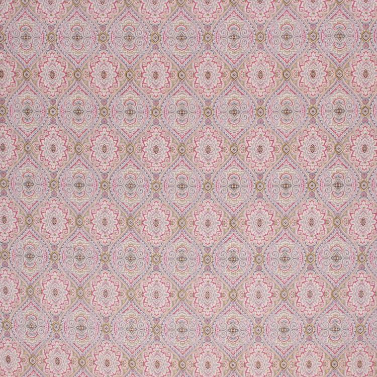 Jacobean Floral Drapery Upholstery Fabric Purple Olive Blue Gray Cream / Plum