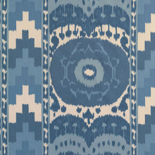 Load image into Gallery viewer, SCHUMACHER SAMARKAND IKAT II FABRIC / PORCELAIN