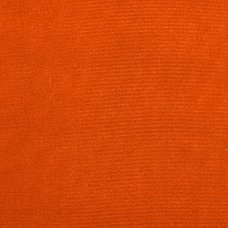 SCHUMACHER GAINSBOROUGH VELVET FABRIC / PUMPKIN
