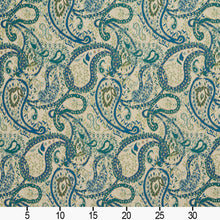 Load image into Gallery viewer, Essentials Outdoor Upholstery Drapery Paisley Fabric / Blue Beige