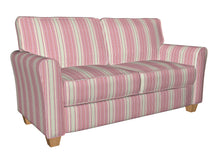 Load image into Gallery viewer, Essentials Palevioletred Crimson Gray White Stripe Upholstery Drapery Fabric