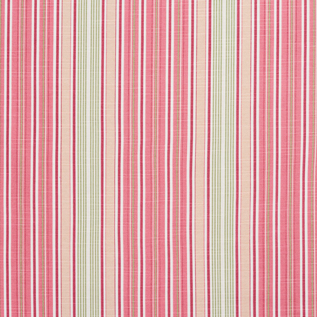 Essentials Palevioletred Crimson Gray White Stripe Upholstery Drapery Fabric