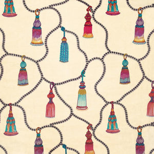 Passementerie Embroidered Silk Blend Tassels Fabric