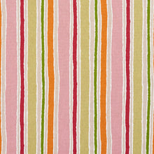 Load image into Gallery viewer, Essentials Pink Fuchsia Orange Lime Tan Ivory White Stripe Upholstery Drapery Fabric