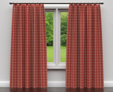 Load image into Gallery viewer, Essentials Heavy Duty Plaid Upholstery Drapery Fabric / Red Gray Beige