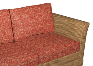 Essentials Outdoor Upholstery Drapery Polka Dot Fabric / Red