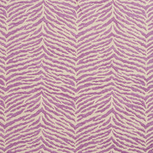 Load image into Gallery viewer, Essentials Chenille Purple White Animal Pattern Zebra Tiger Upholstery Fabric