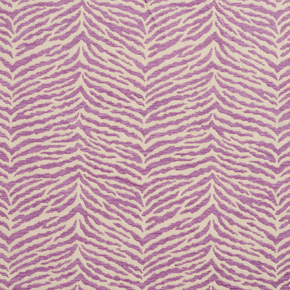 Essentials Chenille Purple White Animal Pattern Zebra Tiger Upholstery Fabric