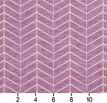 Load image into Gallery viewer, Essentials Chenille Purple White Geometric Zig Zag Chevron Upholstery Fabric