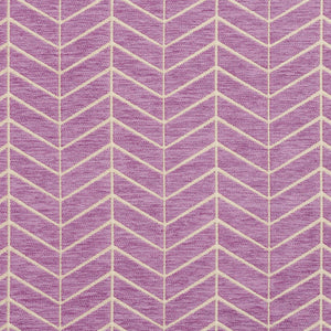 Essentials Chenille Purple White Geometric Zig Zag Chevron Upholstery Fabric