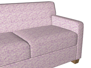Essentials Chenille Purple White Leaf Branches Upholstery Fabric
