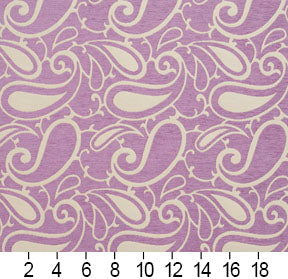 Essentials Chenille Purple White Paisley Upholstery Fabric