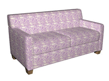 Load image into Gallery viewer, Essentials Chenille Purple White Paisley Upholstery Fabric