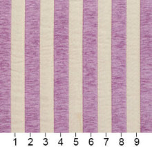Load image into Gallery viewer, Essentials Chenille Purple White Stripe Upholstery Fabric