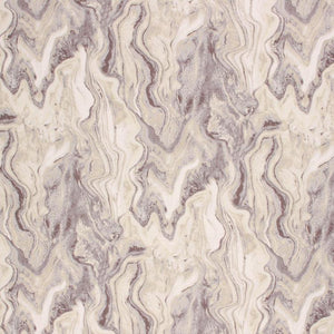 Cotton Abstract Marble Upholstery Drapery Fabric Gray Silver Beige / Quarry RMIL1