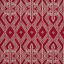 Load image into Gallery viewer, SCHUMACHER ASAKA IKAT FABRIC / RED