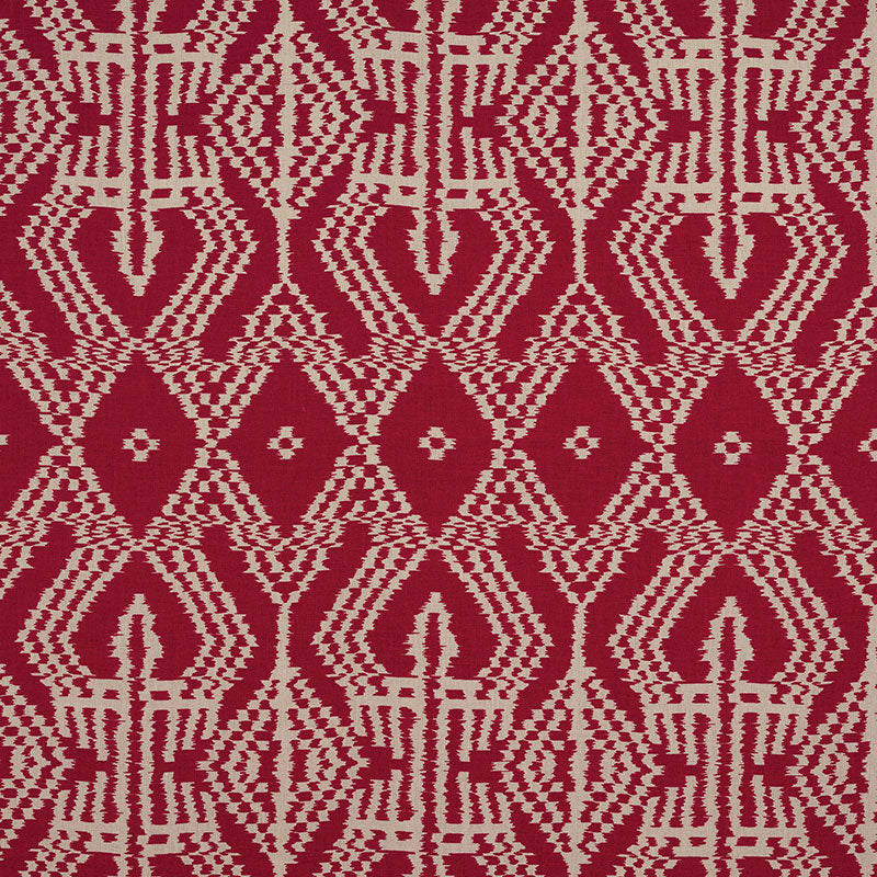 SCHUMACHER ASAKA IKAT FABRIC / RED