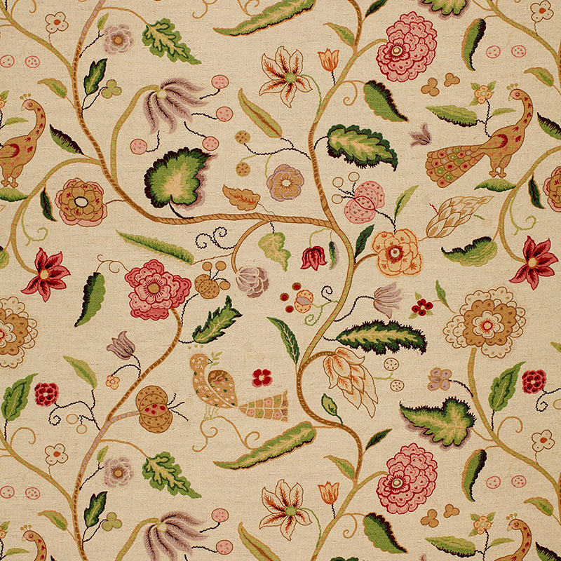 SCHUMACHER APSLEY VINE FABRIC / ROSE