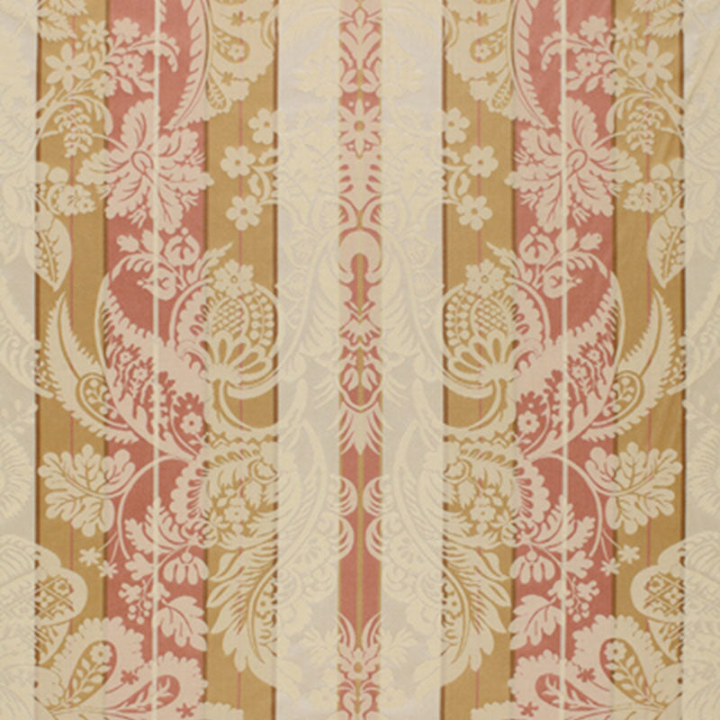 SCHUMACHER SAVANNAH IMBERLINE DAMASK FABRIC / ROSE QUARTZ