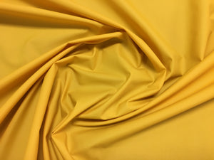 Vintage Yellow Nylon Waterproof Raincoat Outdoor Fabric