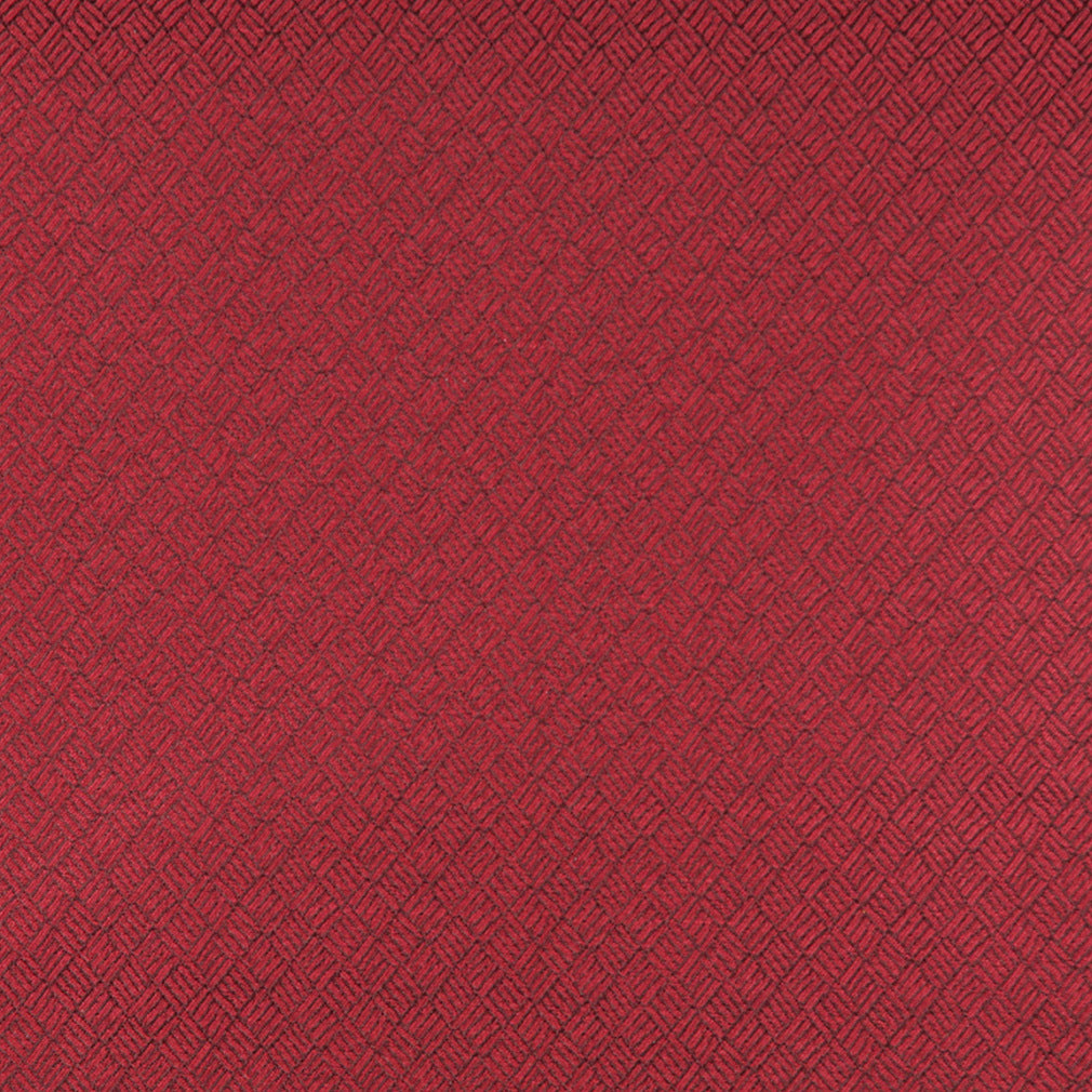 Essentials Heavy Duty Mid Century Modern Scotchgard Upholstery Fabric Red Abstract / Ruby
