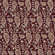 Load image into Gallery viewer, Essentials Red Beige Orange White Upholstery Fabric / Spice Paisley