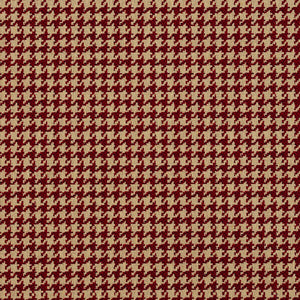 Essentials Red Beige Upholstery Fabric / Port Houndstooth