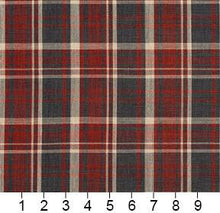 Load image into Gallery viewer, Essentials Red Black Beige Checkered Upholstery Drapery Fabric / Brick Plaid